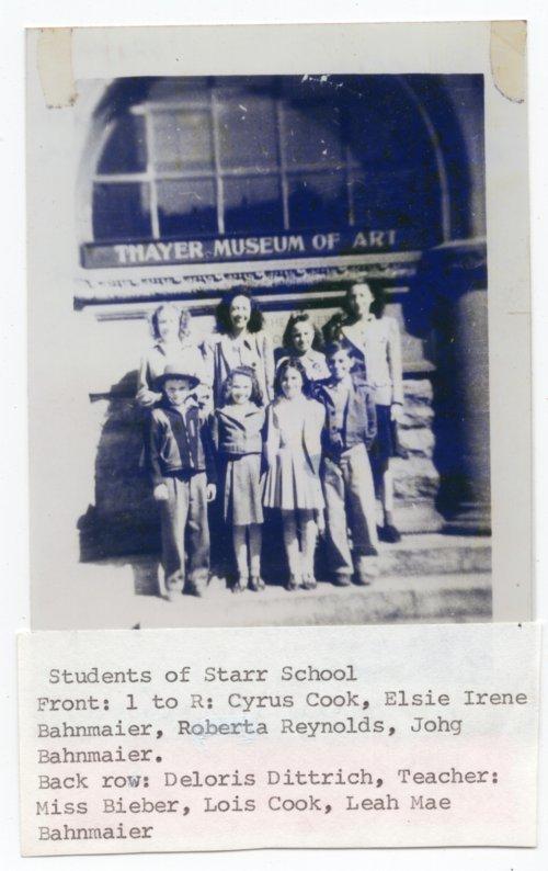 KU Field trip for Students of Starr School, District No. 19, Lecompton township, Douglas County, Kansas - Page