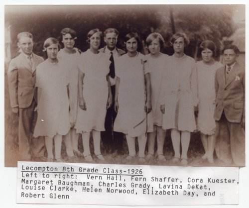 Lecompton 8th Grade Class 1926, Lecompton, Kansas - Page