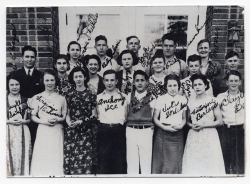 Lecompton High School Freshman Class of 1937, Lecompton, Kansas - Page