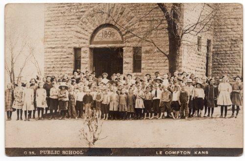 Students and teachers at Lecompton Grade School, Lecompton, Kansas - Page