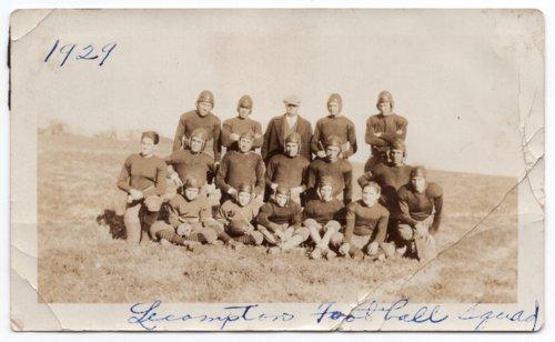 1929 Lecompton High School Football Team, Lecompton, Kansas - Page
