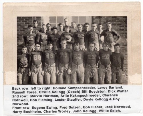1941 Lecompton High School Football Team, Lecompton, Kansas - Page