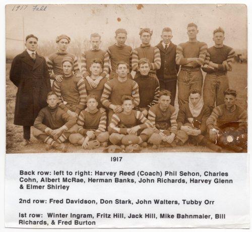 Lecompton High School Football Team, 1917, Lecompton, Kansas - Page