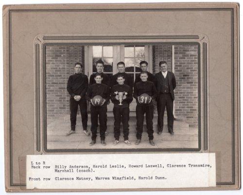 Lecompton Rural High School Basketball Team, Lecompton, Kansas - Page