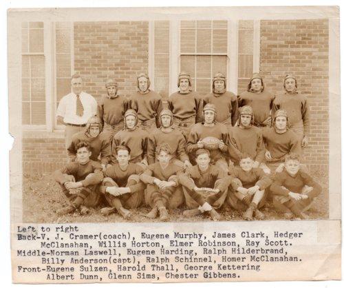 Lecompton Rural High School Football Team of 1932, Lecompton, Kansas - Page