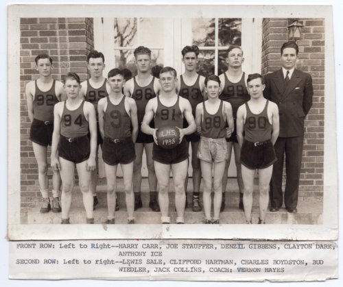 Lecompton High School Basketball Team, 1938, Lecompton, Kansas - Page