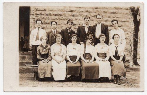 Lecompton High School Class Photo, Lecompton, Kansas - Page