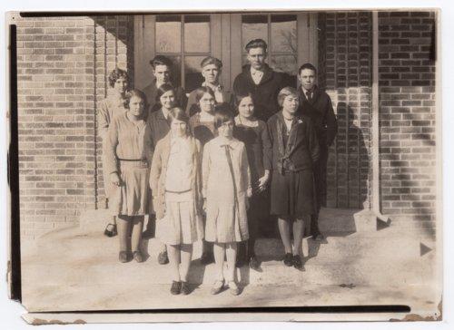 Lecompton High School Class Photograph, Lecompton, Kansas - Page