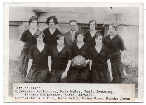 1927 Lecompton High School Women's Basketball Team, Lecompton, Kansas - Page