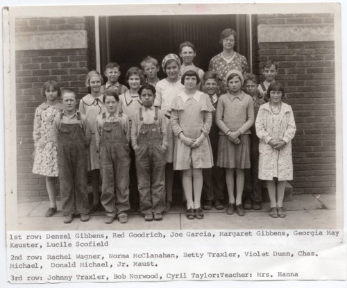 Fifth and Sixth Grade Class of Lecompton Rural Grade School, Lecompton, Kansas - Page