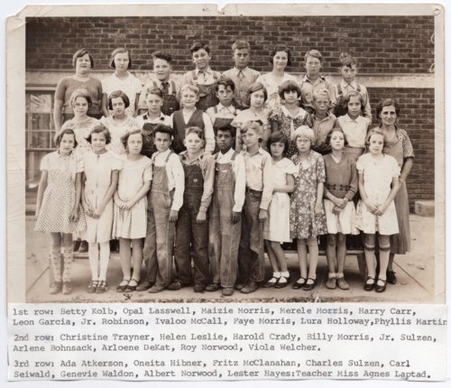 Lecompton Grade School Students, 1934, Lecompton, Kansas - Page