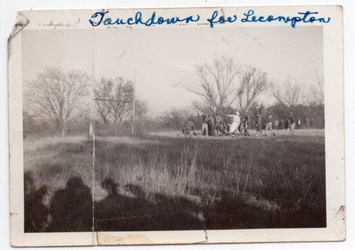 Touchdown for Lecompton Rural High School Football Team, Lecompton, Kansas - Page