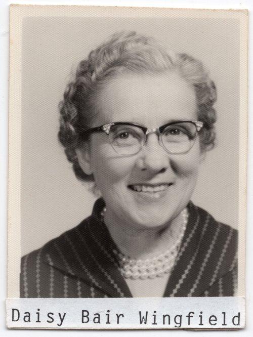 Daisy Bair Wingfield, Lecompton High School teacher, Lecompton, Kansas - Page