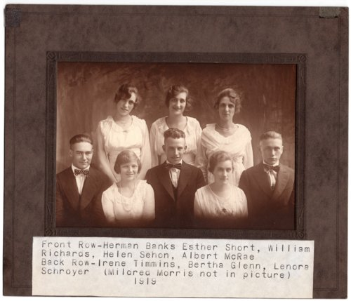 Lecompton High School Senior Class of 1919, Lecompton, Kansas - Page