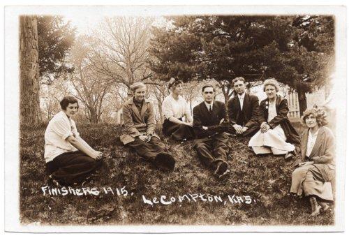 Lecompton High School Senior Class of 1915, Lecompton, Kansas - Page