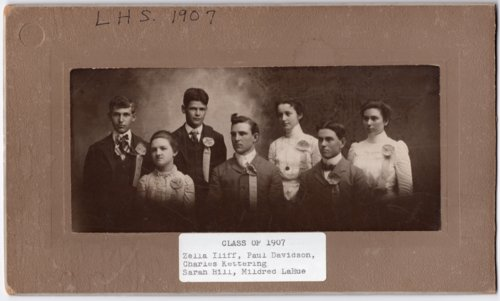 Lecompton High School Senior Class of 1907, Lecompton, Kansas - Page