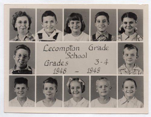 Lecompton Grade School, Third and Fourth Grades, 1948-1949, Lecompton, Kansas - Page