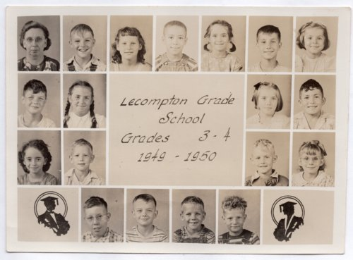 Lecompton Grade School, Third and Fourth Grades, 1949-1950, Lecompton, Kansas - Page
