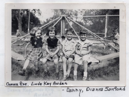 Four Children on a Merry-Go-Round, Lecompton Grade School, Lecompton, Kansas - Page