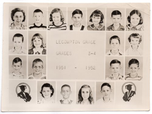 Lecompton Grade School, Third and Fourth Grades, 1951-1952, Lecompton, Kansas - Page