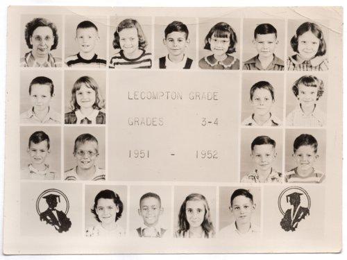 Lecompton Grade School, Third and Fourth Grades, 1951-1952, Lecompton, Kansas - Page