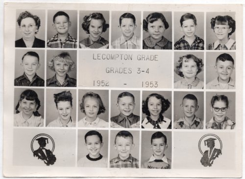 Lecompton Grade School, Third and Fourth Grades, Lecompton, Kansas - Page