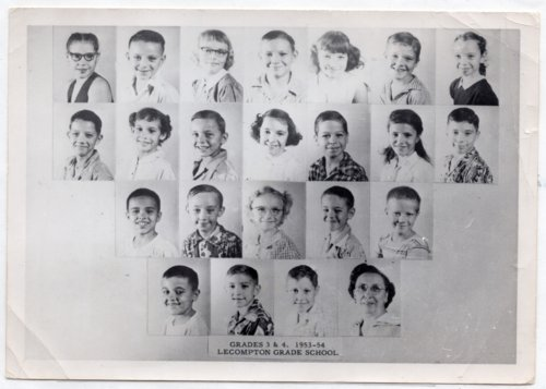 Lecompton Grade School, Third and Fourth Grades, 1953-1954, Lecompton, Kansas - Page