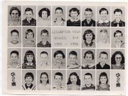 Lecompton Grade School, Third and Fourth Grades, 1955-1956, Lecompton, Kansas - Page
