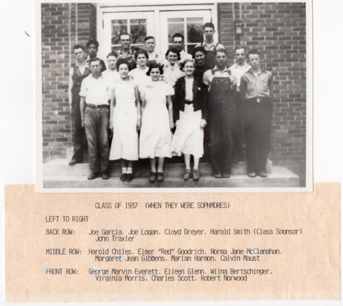 Lecompton Rural High School Graduate Class of 1937, Sophomore Year, Lecompton, Kansas - Page