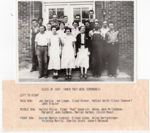 Lecompton Rural High School Graduate Class of 1937, Sophomore Year, Lecompton, Kansas - Page