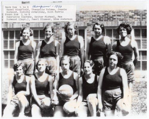 1933 Champion Women's Basketball team, Lecompton High School, Lecompton, Kansas - Page