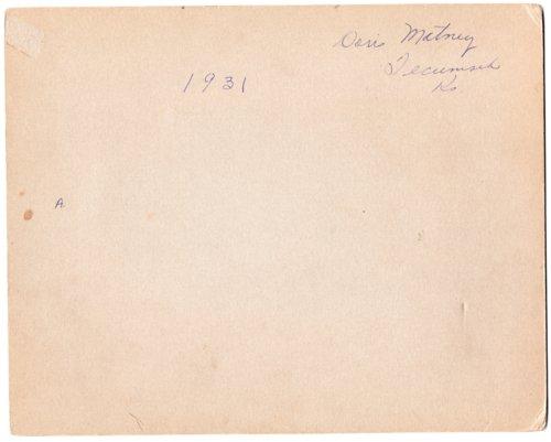 1931 Senior Class, Lecompton Rural High School, Lecompton, Kansas - Page