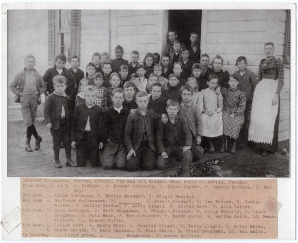 4th & 5th Grade Students of Lecompton Grade School, 1892-1893, Lecompton, Kansas - Page