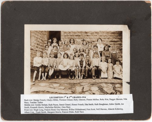 Photograph of Lecompton 1st and 2nd Grades in 1914, Lecompton, Kansas - Page
