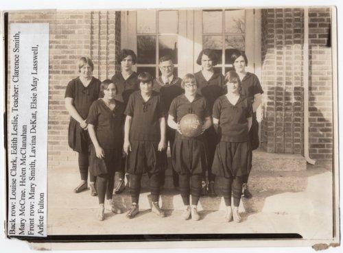 Lecompton Rural High School Girls Basketball Team 1928, Lecompton, Kansas - Page