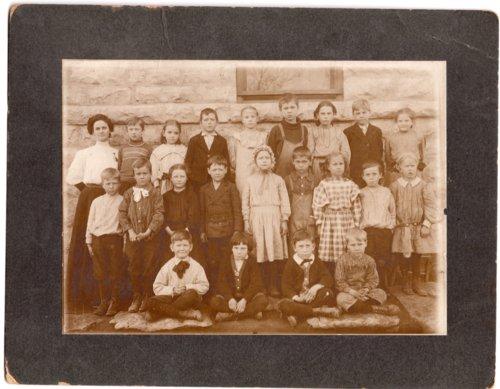 First Grade Class, Lecompton Grade School, Lecompton, Kansas - Page