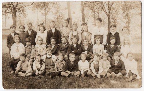 Sixth Grade Class, Lecompton Grade School, 1919, Lecompton, Kansas - Page