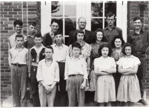 Freshman Class, 1941-1942, Lecompton High School, Lecompton, Kansas - Page