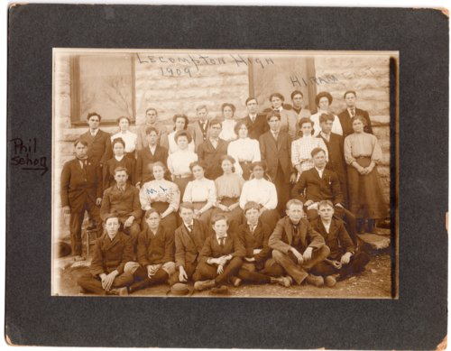 Lecompton High School Students, 1909, Lecompton, Kansas - Page