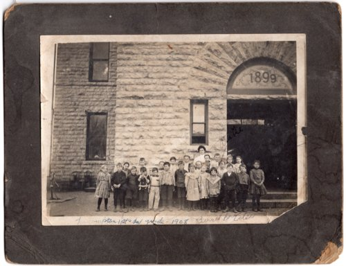First and Second Grade Class, Lecompton Grade School, Lecompton, Kansas - Page