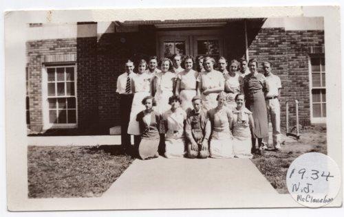 Lecompton High School Sophomore Class, 1934, Lecompton, Kansas - Page