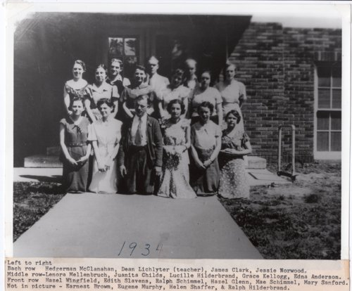 1934 Senior Class of Lecompton Rural High School, Lecompton, Kansas - Page