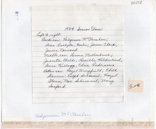 1934 Senior Class of Lecompton Rural High School, Lecompton, Kansas - Page
