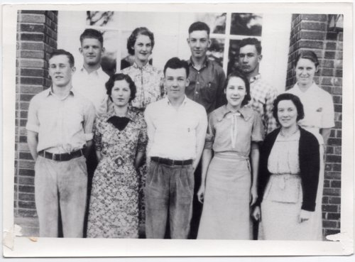 1938 Senior Class of Lecompton Rural High School, Lecompton, Kansas - Page