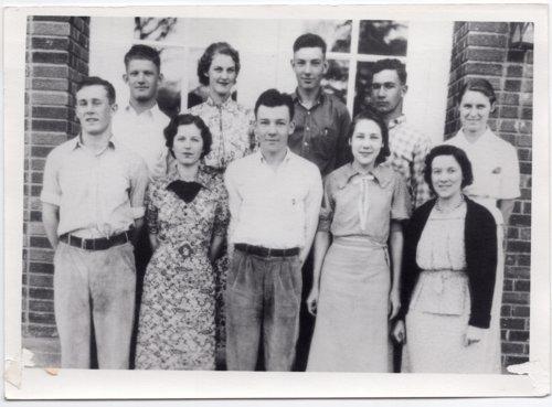 1938 Senior Class of Lecompton Rural High School, Lecompton, Kansas - Page