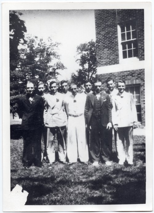 1936 Boys in the Senior Class of Lecompton Rural High School, Lecompton, Kansas - Page