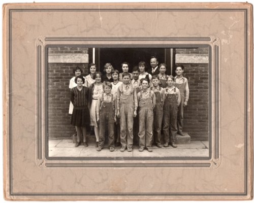 Seventh and Eighth Grade Classes of Lecompton Grade School, 1931, Lecompton, Kansas - Page