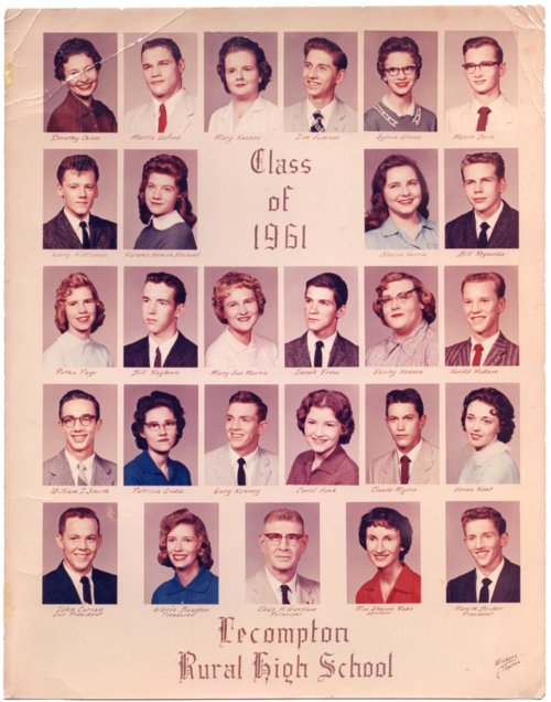 1961 Senior Class of Lecompton Rural High School, Lecompton, Kansas - Page