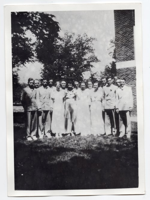 1936 Lecompton Rural High School Graduates, Lecompton, Kansas - Page