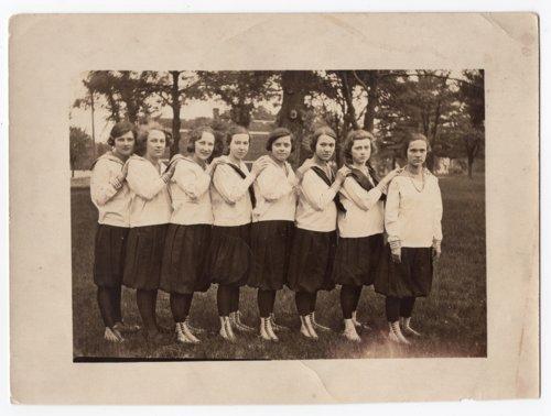 Lecompton Girl's Basketball Team 1923-24, Lecompton, Kansas - Page